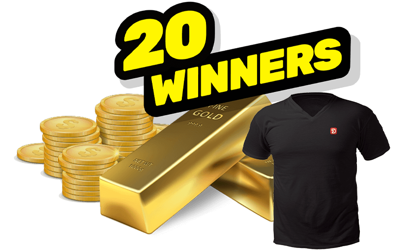 1st Prize: AED100K Gold + 19 Prizes: AED2K Gold combined