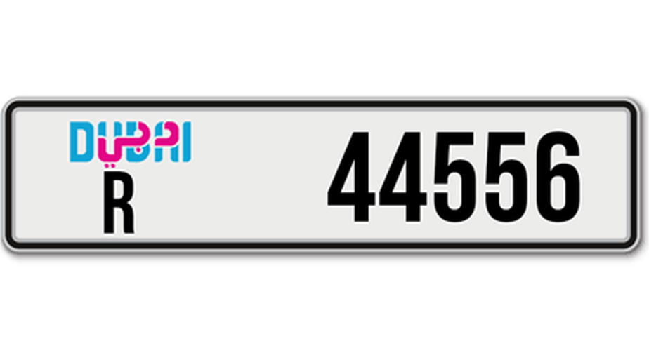 License Plate R44556