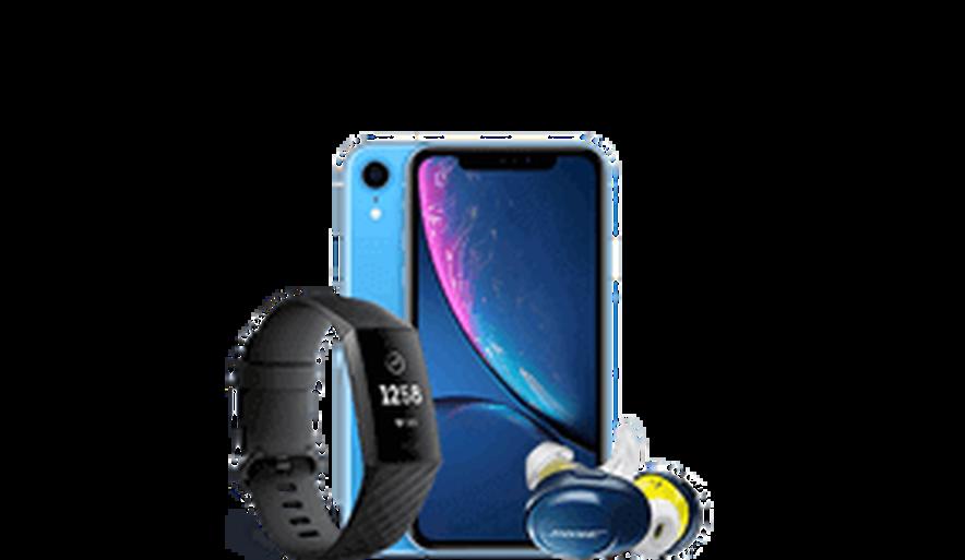 Fitness Pack (iPhone XR, Earphones, Fitbit)